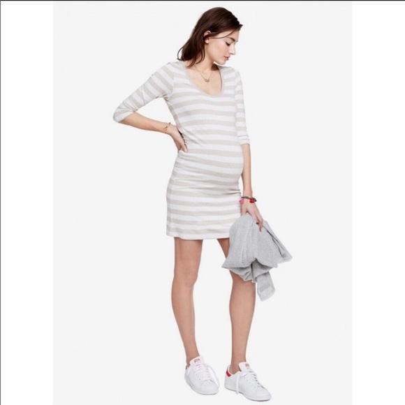 Size 1 Hatch BLACK /& WHITE STRIPE Maternity The 3//4 Body Dress